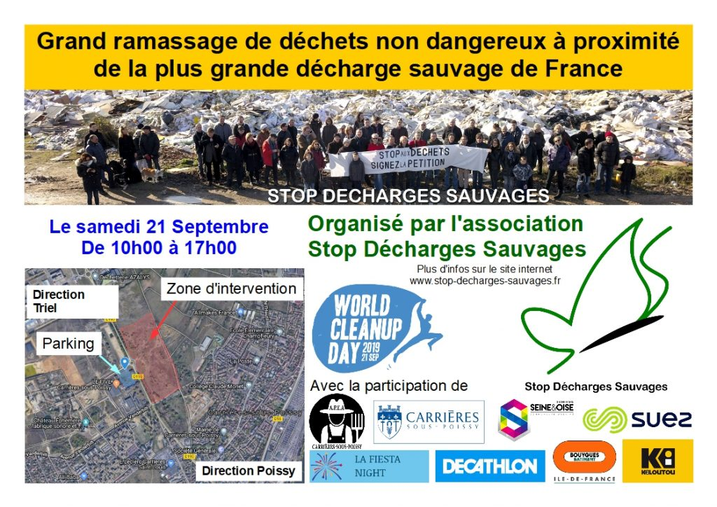 World Cleanup Day de Carrières-sous-Poissy le 21 septembre 2019