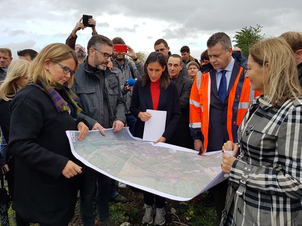 Visite de Brune POIRON dans la plaine de Carrières-sous-Poissy - Association Stop Décharges Sauvages